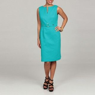 Tahari Womens Pique Sheath Dress FINAL SALE