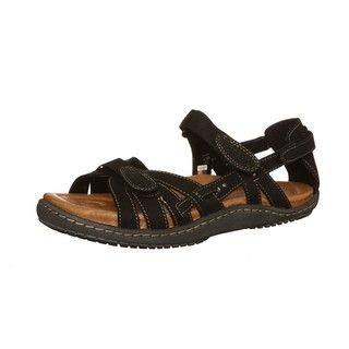 Kalso Earth Womens Imply Black Leather Sandals FINAL SALE