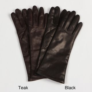 Portolano Womens Cashmere Lined Leather Gloves