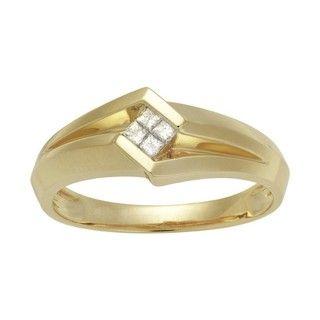 14kt Yellow Gold Mens 1/6 CTW Diamond Wedding Band (H I, I1 I2