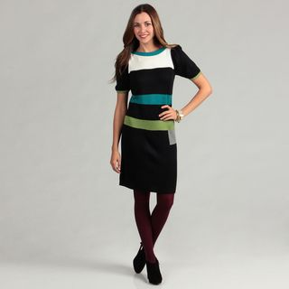 Jessica Howard Womens Colorblock Sweater Dress FINAL SALE