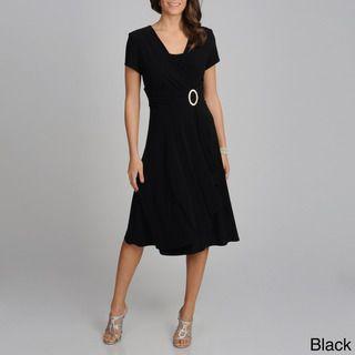 Richards Womens Cascading Ruffle Detail Dress