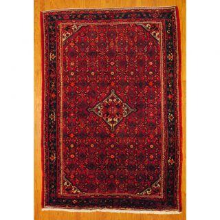 Persian Hand knotted Tribal Hamadan Red/ Blue Wool Rug (610 x 910