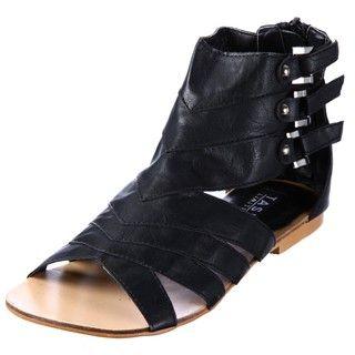 Tash Limited Womens Ann Black Gladiator Sandals