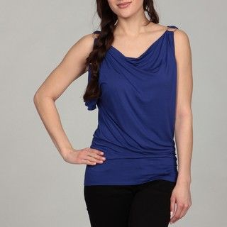 Cable & Gauge Womens Cold Shoulder Top
