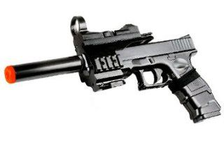Airsoft Pistol with silencer Fully Loaded Spring Action