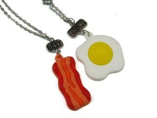 Scratch n Sniff Best Friends Bacon and Eggs Pendants
