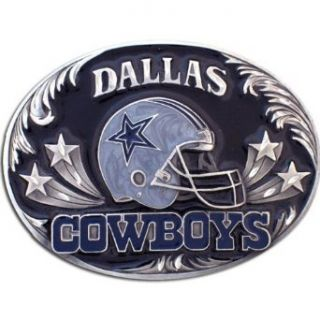 Dallas Cowboys   NFL Pewter Diamond Cut Belt Buckle