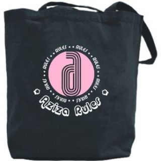 Canvas Tote Bag Black  Aziza Rules  Name Clothing