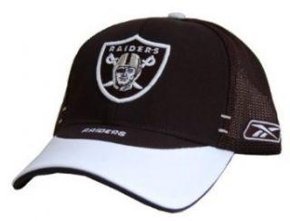 Oakland Raiders Trucker Flex Fit Authentic NFL Hat   Black