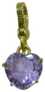 Juicy Couture Purple Crystal Heart Charm Clothing