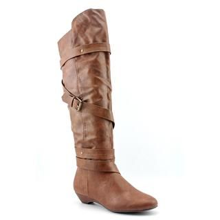Madden Girl Womens Zippedd Faux Leather Boots