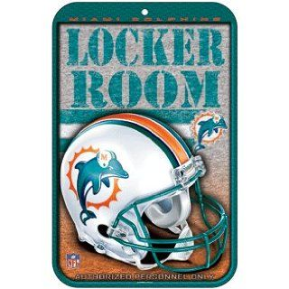 Miami Dolphins Locker Room Personnel Only Sign Sports
