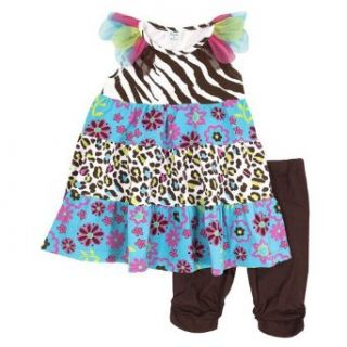 Peaches n Cream Baby Girls 12M Colorful Print Dress Capri