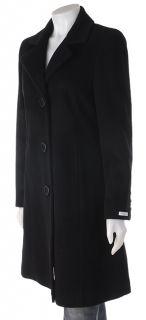 Claiborne Black Wool Princess Style Coat
