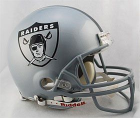 Oakland Raiders 1960 63 Throwback Pro Line Helmet Features