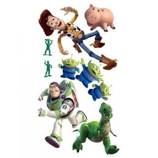 MAXI STICKERS MURAUX   100 x 65 cm Toy Story   Woody45 cm Buzz30 cm