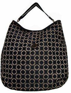 Tommy Hilfiger Large Shoulder Tote Handbag (Black/White) Shoes