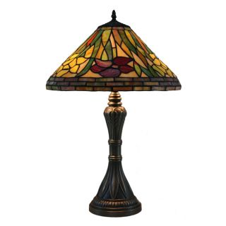 Daffodil Handcrafted Stained Glass Tiffany Style Table Lamp Compare $