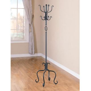 Spiral Design Sandy Black Metal Coat/ Hat Rack