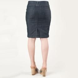 Tabeez Womens Sparkle Belt Loop Denim Skirt