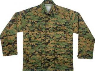 Digital Woodland Camouflage BDU Shirt Clothing