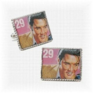 Elvis Presley Stamp Cufflinks   One Size Clothing