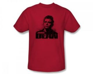 James Dean   Dean Graffiti Adult T Shirt In Red Clothing