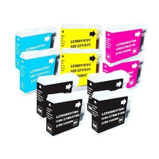 Brother LC51 Compatible Black/Color Ink Cartridges (Set of 10