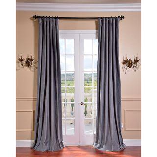 Chinchilla Grey Vintage Cotton Velvet Curtain