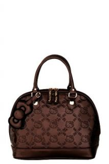 Loungefly   Hello Kitty Brown Patent Embossed Bag