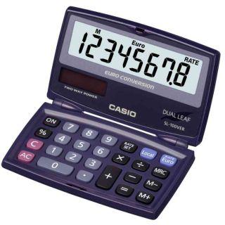 SL 100 VER, alimentation solaire/par pile   CASIO calculatrice SL 100