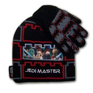 Boys Star Wars Vader Black Beanie Knit Lego Hat and
