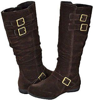 Blossom Bruno 6 Brown Faux Suede Women Casual Boots, 6.5 M US Shoes