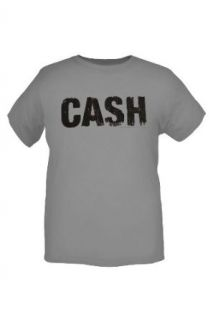 Johnny Cash Logo Grey T Shirt 4XL Size  4X Clothing