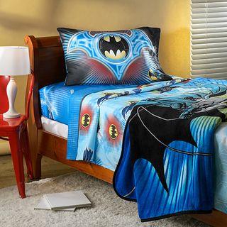 Batman Lightning Swoop Twin Sheet and Blanket Set