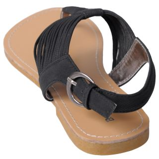 Journee Collection Womens Carnival 51 Canvas Thong Sandals