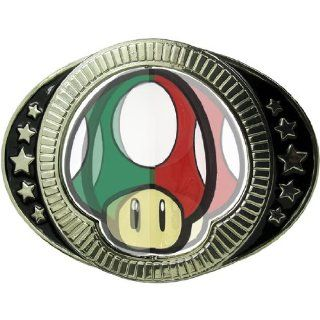 Nintendo Reversible Mushrooms Belt Buckle Sports