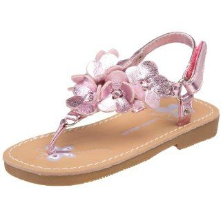 Laura Ashley Toddler 6059 Sandal,Pink Metallic,6 M US Toddler Shoes