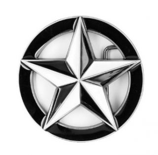 Black and White Star Belt Buckle Clothing