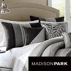 Madison Park Infinity Black/Grey 6 piece Duvet Cover Set Today: $83.99