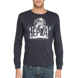 REPLAY T Shirt Homme Marine   Achat / Vente T SHIRT REPLAY T Shirt