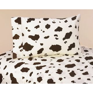 Sweet JoJo Designs Wild West Cowboy Bedding Collection Cow Print Sheet