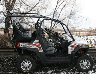 UTV Mountain Honda Big Red Rear Seat and Roll Cage Kit . Extra Wide