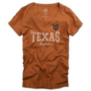NCAA Texas Longhorns Sophomore V Neck T Shirt Womens