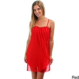 Lyssa Loo Womens Chiffon Top Layer Dress