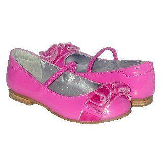 Little Girls Fuchsia Patent Bow Dress Slipper Shoes 12 IM Link Shoes