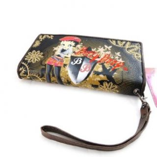 Large wallet Betty Boop black.: Clothing