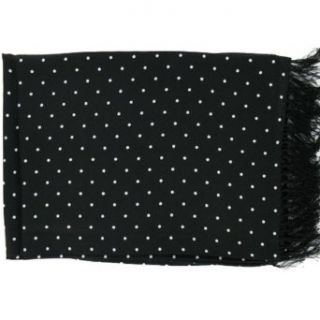 Black Polka Dot Broad Silk Scarf by Michelsons Clothing