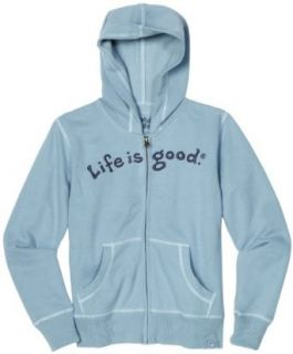 Life is Good Boys Softwash Zip Front Hoodie, Slate Blue
